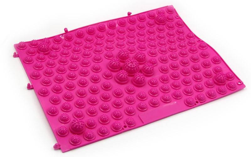 Килимок-пазл ортопедичний масажний гумовий (1шт) рожевий ZD-4601