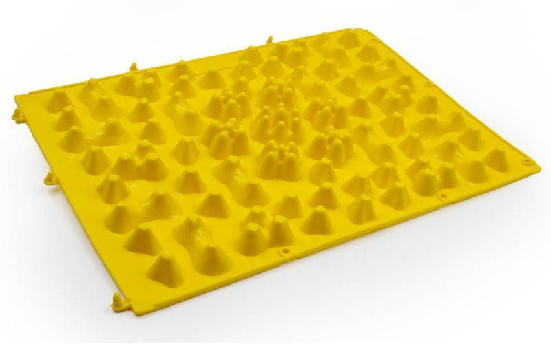 Коврик-пазл ортопедический массажный резиновый (1шт) желтый ZD-5082