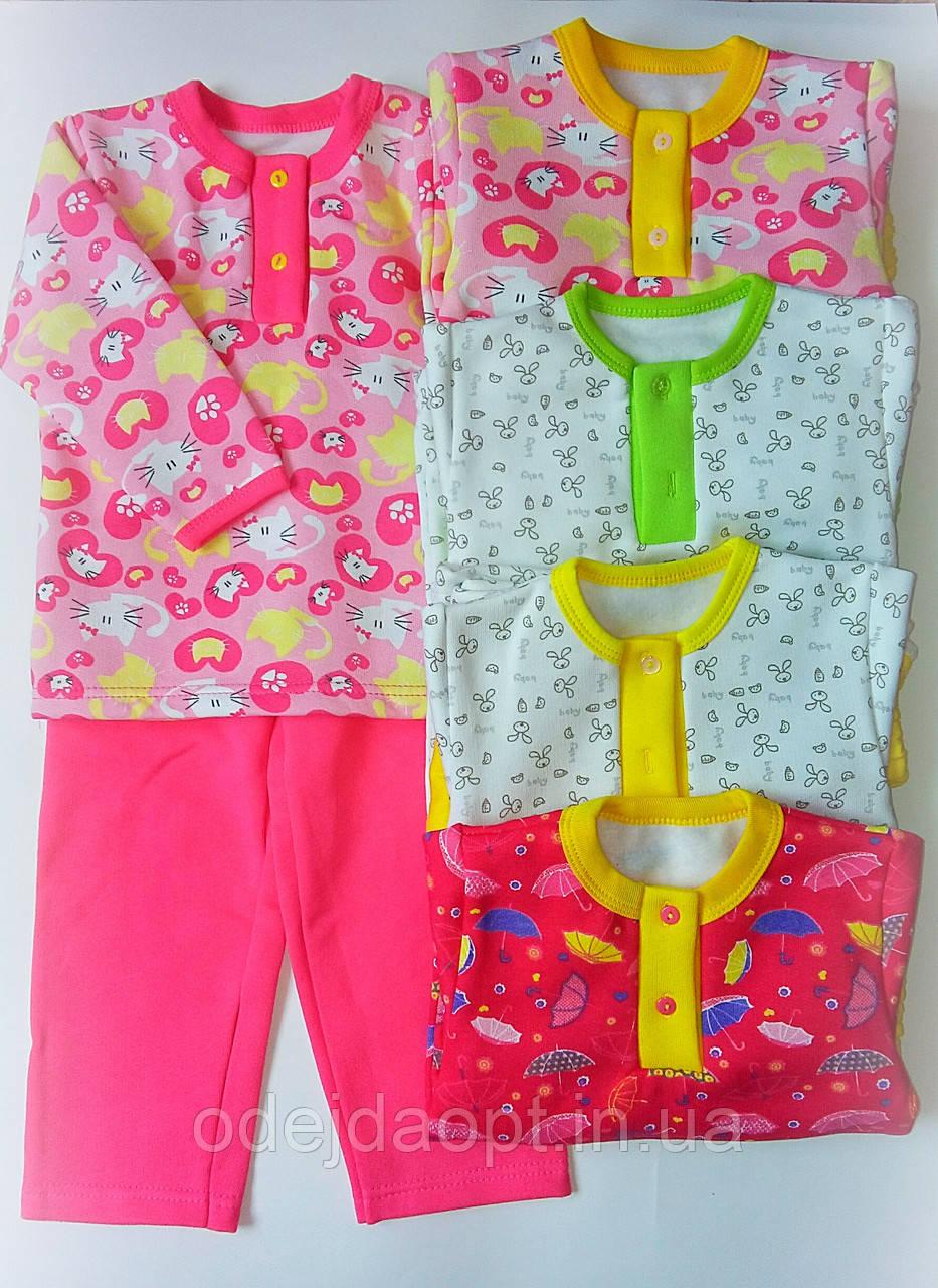 Детская теплая пижама для девочки