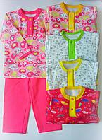 Детская теплая пижама для девочки 1,2,3,4,5,6,7,8,9,10,11,12 лет, фото 1