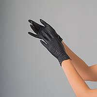 Перчатки нитриловые Polix PRO&MED, 100 штук в упаковке, размер M (черный, супер прочные)
