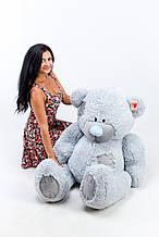 М'яка іграшка ведмедик з латками 150 см, сірий