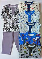 Теплая детская пижама для мальчика, фото 1