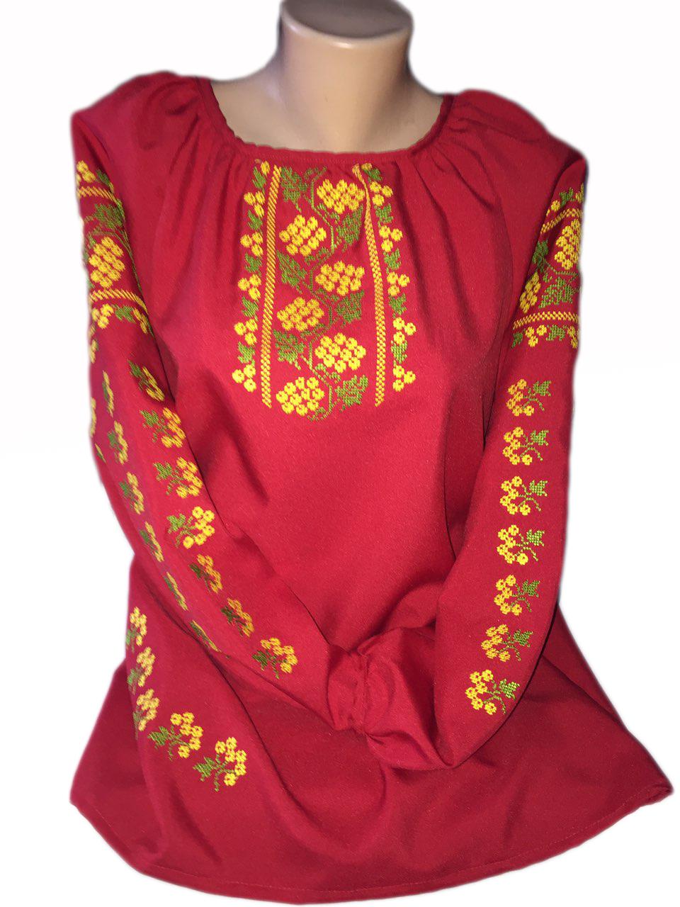 """Женская вышитая рубашка """"Адела"""" BI-0003"""