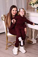 Ангоровый костюм на девочку в стиле Family look для мамы и дочки