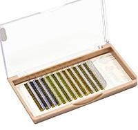 Ресницы 2D Glitter Eyemix D, 0.15, 12мм. (4 Цвета), фото 1