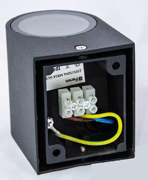 Настенный светильник Feron DH014 для подсветки фасадов черный под лампу GU10, фото 2