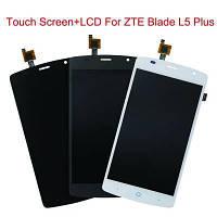 Дисплей (LCD) ZTE L5 Blade + сенсор серый