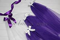 Фата кольорова для дівич-вечора класична фіолетова