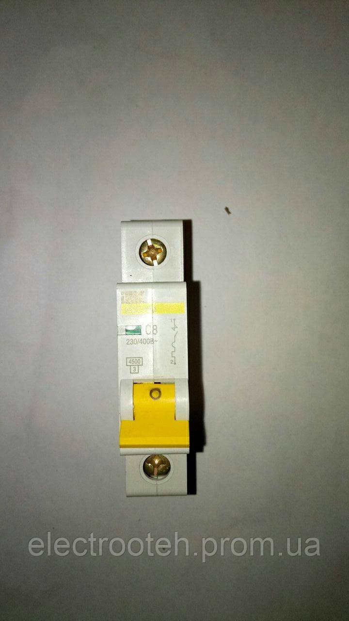 Автоматический выключатель ВА47-29 1Р 8А 4,5кА х-ка С IEK