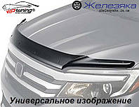 Дефлектор капота (мухобойка) KIA Sportage 2004 с 2009 Калининградской сборки (короткий) (Vip Tuning)