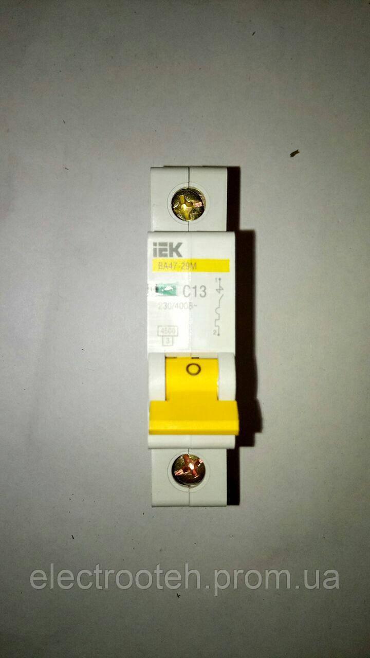Автоматический выключатель ВА47-29 1Р 13А 4,5кА х-ка С IEK