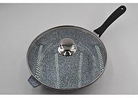 Сковорода литая с крышкой Benson BN-521 (28*7 см), фото 1