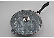 Сковорода литая с крышкой Benson BN-521 (28*7 см)