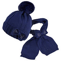 Комплект шапка и шарф для девочки зимний TuTu  28 арт. 5-000108(52-56)