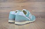 Жіночі кросівки New Balance 996 бірюзові. Живе фото (Репліка ААА+), фото 2