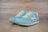 Жіночі кросівки New Balance 996 бірюзові. Живе фото (Репліка ААА+), фото 3