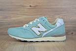 Жіночі кросівки New Balance 996 бірюзові. Живе фото (Репліка ААА+), фото 4