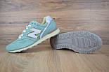 Жіночі кросівки New Balance 996 бірюзові. Живе фото (Репліка ААА+), фото 5