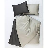 Постельное белье Сатин Микс MILK+DARK GREY, двуспальный