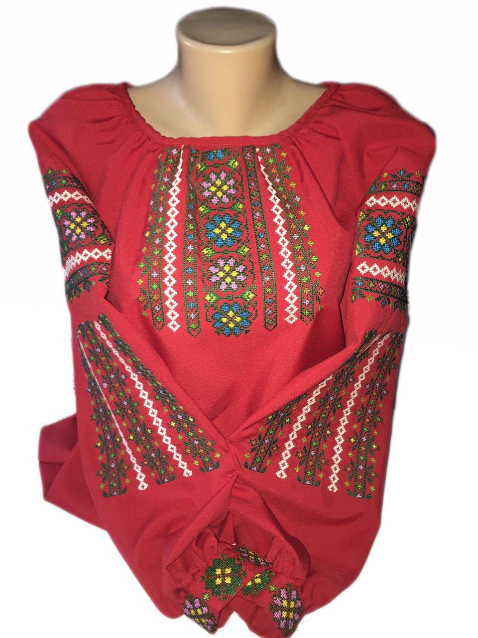 "Жіноча вишита сорочка (блузка) ""Розвен"" (Женская вышитая рубашка (блузка) ""Розвен"") BI-0006"