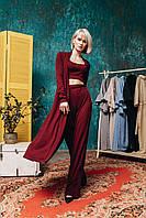 """Брючный женский костюм-тройка """"LEDION"""" с топом и кардиганом (4 цвета)"""