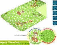 Многоразовая пеленка Эко-Пупс Premium (бязь с рисунком), 50x70 см