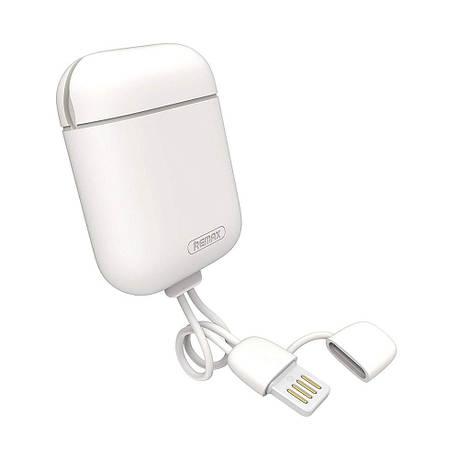 Чохол зарядка для навушників AirPods Remax Cole RC-A6 Білий, фото 2
