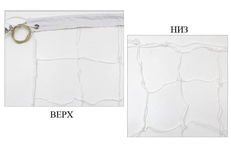 Сетка для волейбола узловая с тросом Эконом15 (р-р 9x0,9м, ячейка 15x15см) SO-5266