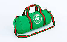 Сумка для спортзала Бочонок CONV GA-0520 зеленая