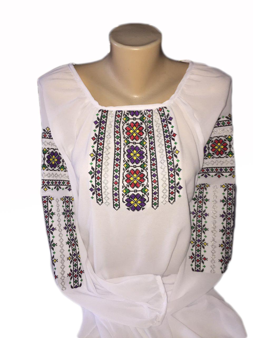 """Жіноча вишита сорочка (блузка) """"Арлен"""" (Женская вышитая рубашка (блузка) """"Арлен"""") BI-0007"""