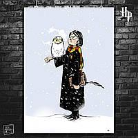 Постер Гарри Поттер, Harry Potter. Размер 60x42см (A2). Глянцевая бумага