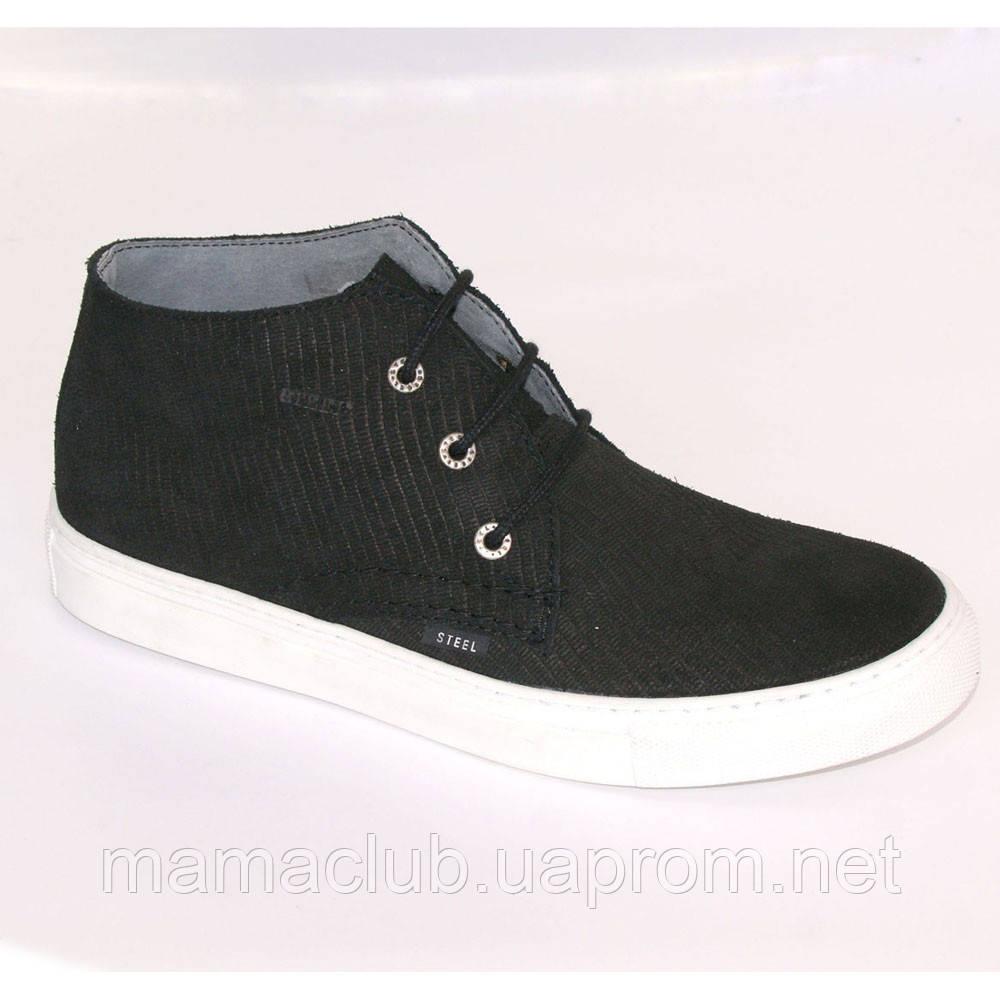 93b973be Мужские высокие кеды черные Steel, Размер 46 - Обувь из Польши оптом и в  розницу