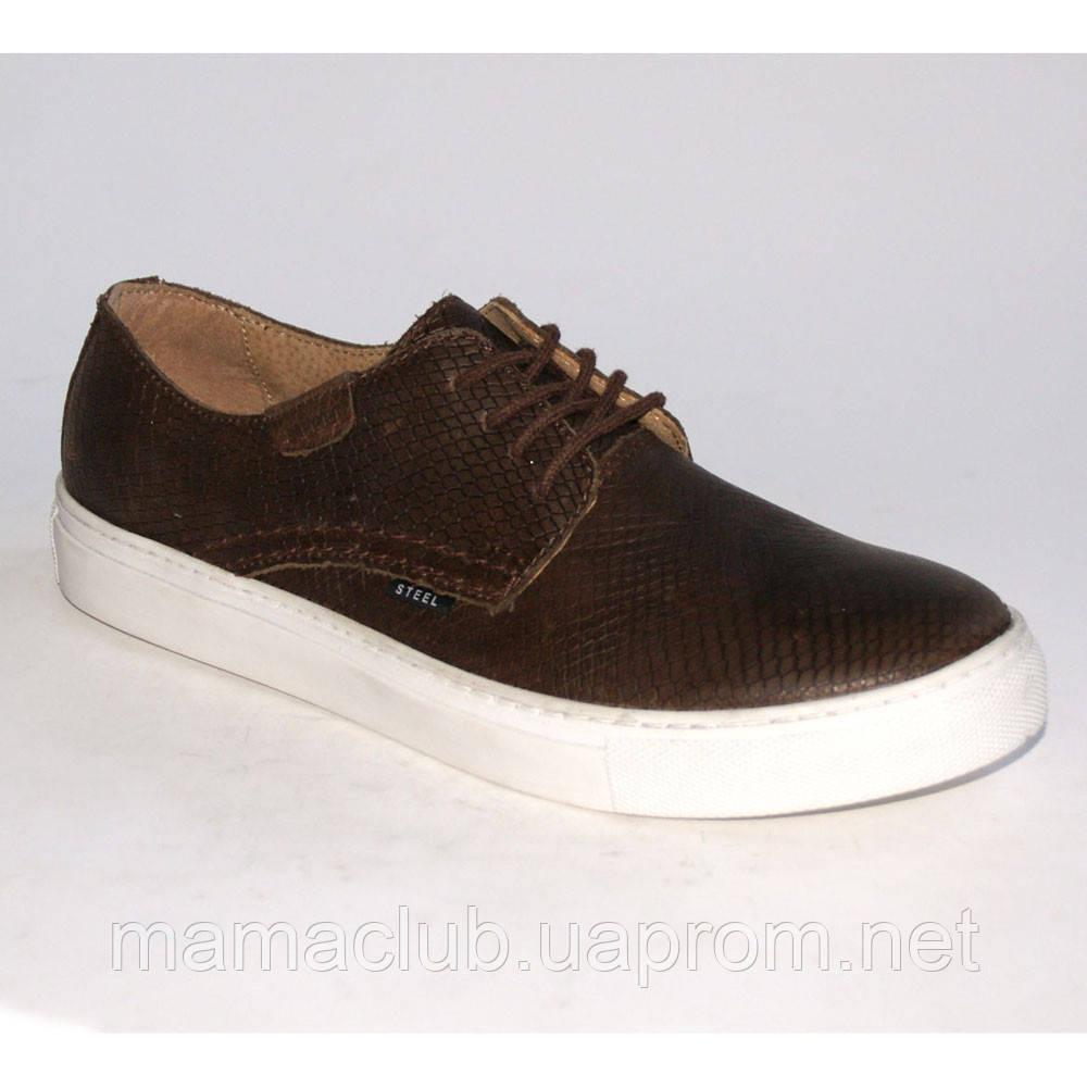 113f16e5 Мужские кеды коричневые Steel, Размер 46 - Обувь из Польши оптом и в  розницу в