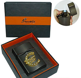 Зажигалка подарочная в коробочке EVRO 0482 Тройное Пламя