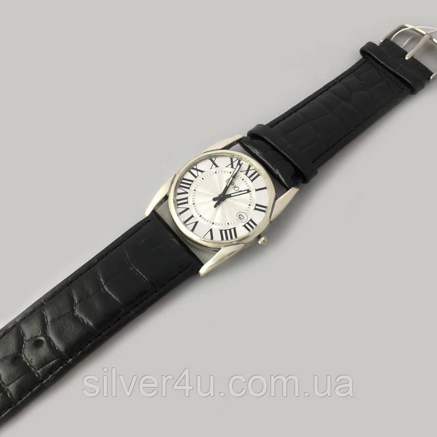 d0eb44ea Серебряные мужские часы на кожаном ремешке БР-0005171: продажа, цена ...