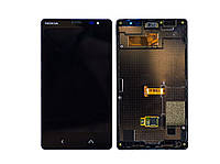 Дисплей (LCD) Nokia X2 Dual Sim + сенсор чёрный + рамка