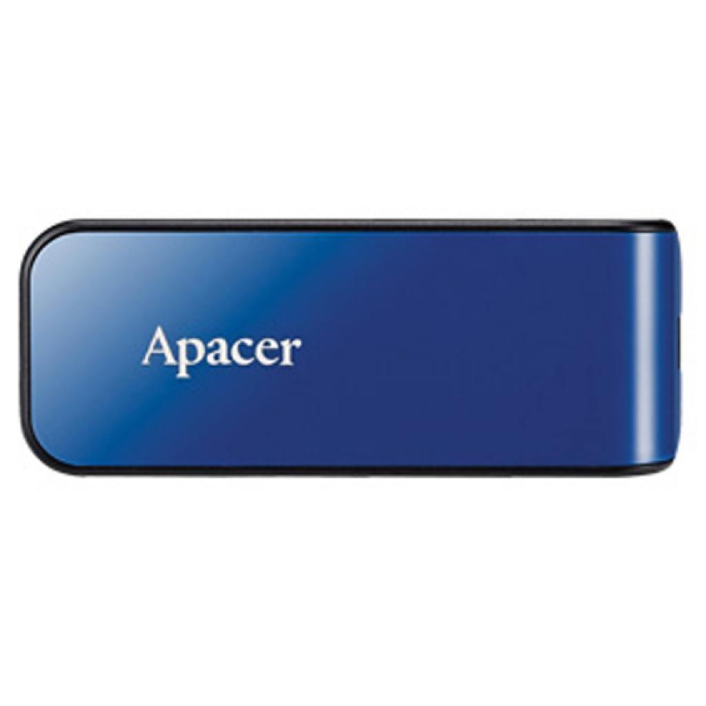 USB флеш накопитель Apacer 8GB AH334 blue USB 2.0 (AP8GAH334U-1)