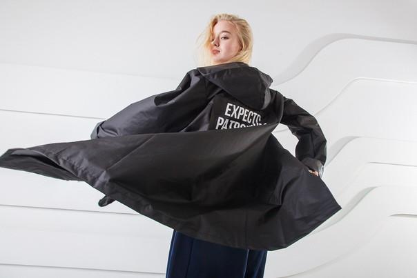 347bdb91bc9 Демисезонная Куртка-плащ Унисекс Hard Stone Черная — в Категории ...