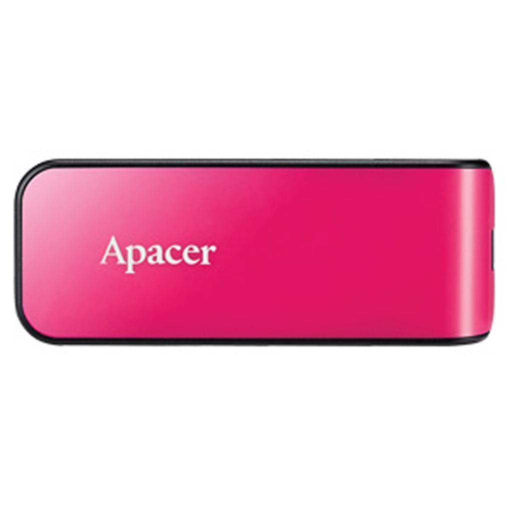 USB флеш накопитель Apacer 32GB AH334 pink USB 2.0 (AP32GAH334P-1)