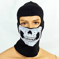 Подшлемник балаклава Скелет Skull коттон MS-4824-1 (OF)