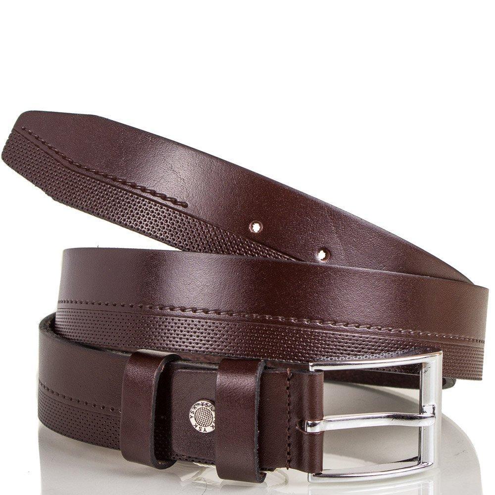 Ремень Y.S.K Ремень мужской кожаный Y.S.K. (УАЙ ЭС КЕЙ) SHI2016-brown