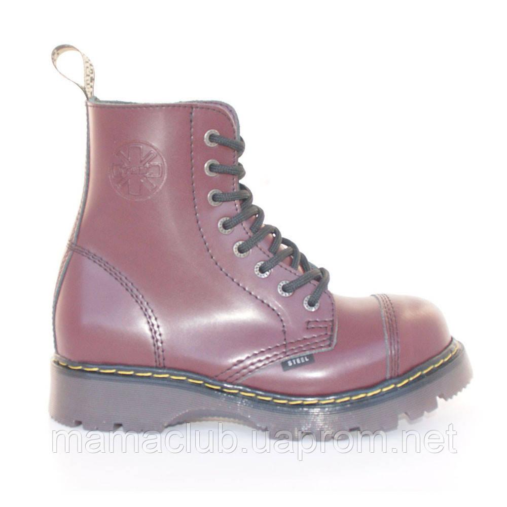 f488f6f89 Зимние ботинки Steel с шерстью бордовые 8 дырок 113/114/CL/F.BUR ...