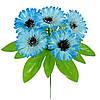 Букет искусственных цветов Васильки цветные бордюр , 23 см