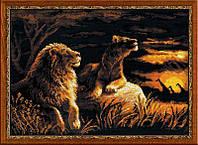 "Набор для вышивания ""Львы в саванне"""