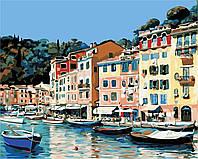 Картина по номерам пейзаж Итальянский городок (40 х 50 см, в коробке), ArtStory (AS0373)