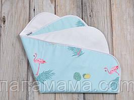 Непромокаемая пеленка 60*80, Фламинго