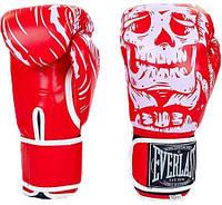 Перчатки боксерские FLEX на липучке EVERLAST SKULL BO-5493-R (реплика)