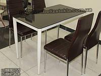 "Кухонный стеклянный стол ""S-318-11"" шоколад"