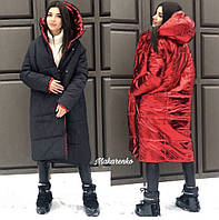 Женская модная двусторонняя куртка-пальто Дуэт
